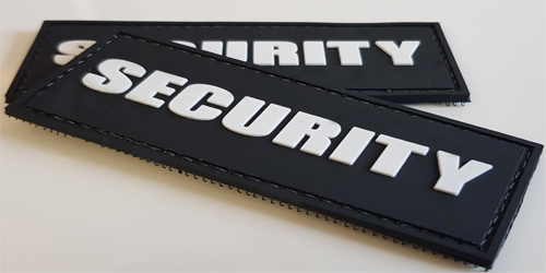 3d Rubber Patches Security
